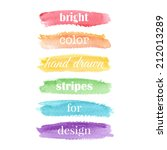 watercolor elements for design. ...