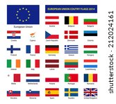 european union country flags ... | Shutterstock . vector #212024161