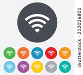 wifi sign. wi fi symbol.... | Shutterstock .eps vector #212026801