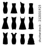 twelve little black dress... | Shutterstock .eps vector #212031925