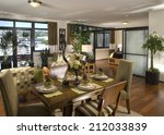 dining room architecture stock... | Shutterstock . vector #212033839