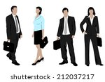drawings of business people | Shutterstock . vector #212037217