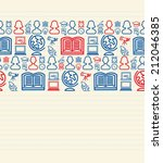 education seamless pattern... | Shutterstock . vector #212046385