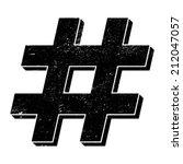 hashtag vector icon | Shutterstock .eps vector #212047057