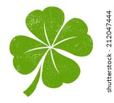 green lucky four leaf irish... | Shutterstock .eps vector #212047444