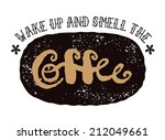 retro vintage coffee sign with... | Shutterstock .eps vector #212049661