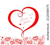 happy valentines day card | Shutterstock . vector #212058475