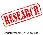 research red stamp text on white