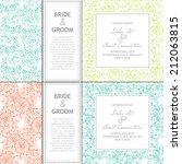 wedding invitation cards with... | Shutterstock . vector #212063815