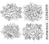 flower set | Shutterstock .eps vector #212063959