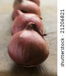 Group Of Red Onions