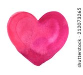 watercolor painted pink heart | Shutterstock .eps vector #212073265