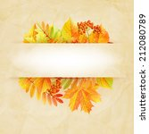 autumn abstract background with ... | Shutterstock .eps vector #212080789