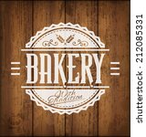 vintage vector bakery label or... | Shutterstock .eps vector #212085331