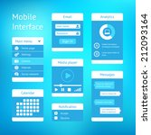 user interface template design... | Shutterstock . vector #212093164