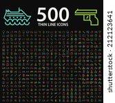set of 350 standard universal... | Shutterstock .eps vector #212123641