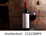 Bottle Of Red Wine With A Blan...