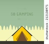 graphical camping illustration... | Shutterstock .eps vector #212138971
