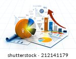 economical chart and graph | Shutterstock . vector #212141179