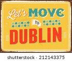 vintage metal sign   let's move ... | Shutterstock .eps vector #212143375