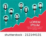 vector collection of success ... | Shutterstock .eps vector #212144131