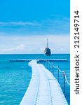contemplating the sea jetty to... | Shutterstock . vector #212149714