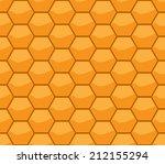 honeycomb seamless pattern ... | Shutterstock .eps vector #212155294