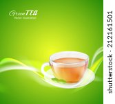 Tea Cup Over Bright Background...