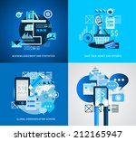 flat style infographic ui icons ... | Shutterstock . vector #212165947