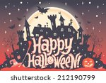 happy halloween. halloween... | Shutterstock .eps vector #212190799