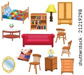furniture | Shutterstock .eps vector #21219298