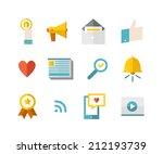 modern flat icons vector...