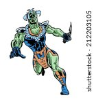 original fishman comic... | Shutterstock . vector #212203105
