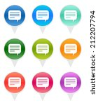colorful rounded icons for... | Shutterstock . vector #212207794