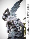 Devil Figure  Bronze Sculpture...