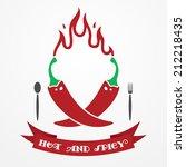 big flat restaurant emblem with ...   Shutterstock .eps vector #212218435