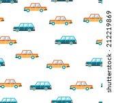 lovely colorful cars seamless... | Shutterstock .eps vector #212219869