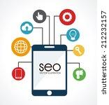 seo design over white... | Shutterstock .eps vector #212232157