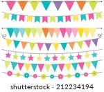 spring bunting | Shutterstock .eps vector #212234194