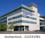modern hospital style building | Shutterstock . vector #212251981