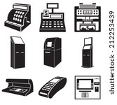 icons of devices for money ... | Shutterstock .eps vector #212253439