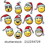 big collection of smiliey faces ... | Shutterstock . vector #212254729