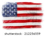 american flag on plain... | Shutterstock . vector #212256559
