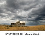 Old Tumbledown Building On A...