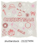 christmas sketches | Shutterstock .eps vector #21227494
