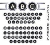 silver vintage typewriter... | Shutterstock .eps vector #212289781
