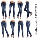 collection of women's jeans in... | Shutterstock . vector #212290921
