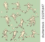 soccer sport action collection | Shutterstock .eps vector #212291647