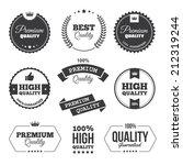 set of black premium quality... | Shutterstock . vector #212319244