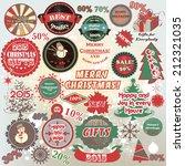 vector set of christmas... | Shutterstock .eps vector #212321035
